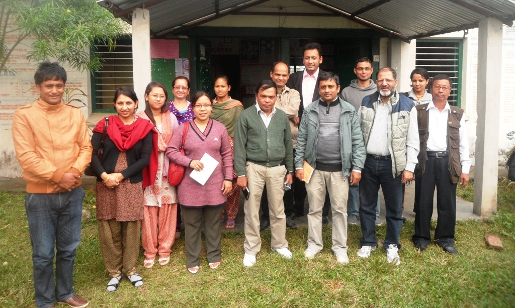 IRHDTC staff visiting chitwan